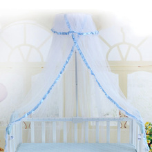 Summer Baby Bed Net Crib Netting Portable Mosquito Net Baby Infant Canopy Round Dome Bed Canopy Baby Mosquito Net for Cribs