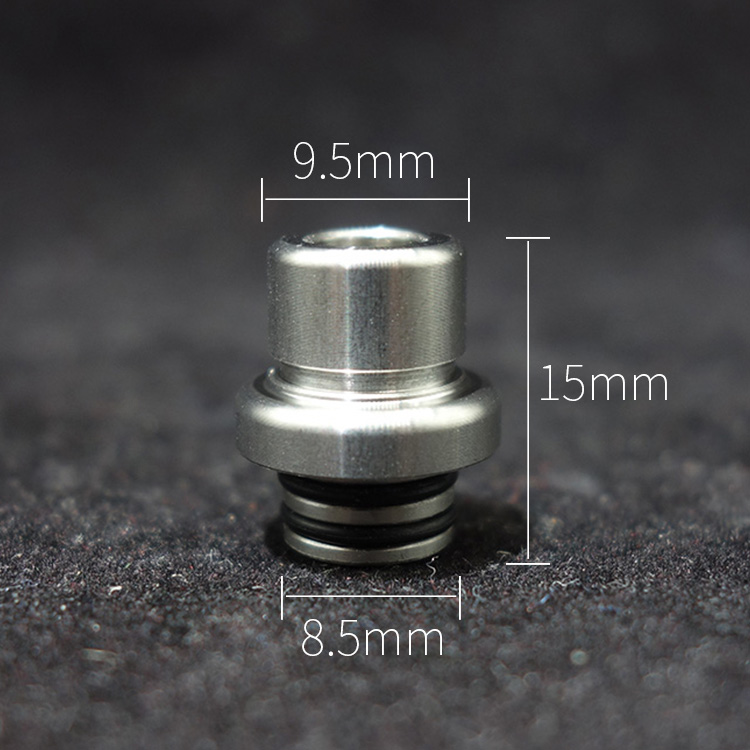 1pc 510 metal drip tip pom pei t9 design mouthpiece for derlin mini 8.5mm cap ecig case