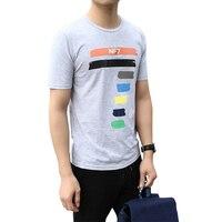 High Quality 2017 Cotton Men S T Shirt Seven Pattern Printed Fashion T Shirts Elastic Comfortable