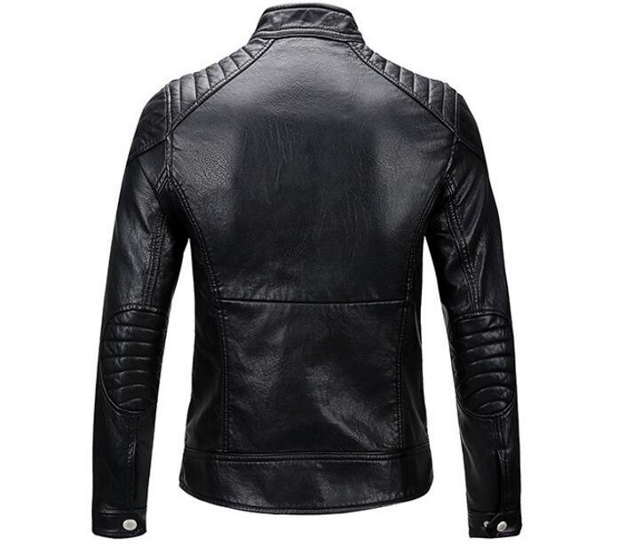3xl Pu M Cuir De Nouveau 2019 Mode Vestes Hommes Printemps Noir Collier Jeunes Mince Chaude Moto En 0XN8PknwO