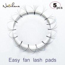 NATUHANA 5Pcs Reusable Washable Easy Fan Lash Pads Volume Lash Patches Eyelash Extension Make Fans Eyelash Holder Makeup Tool все цены