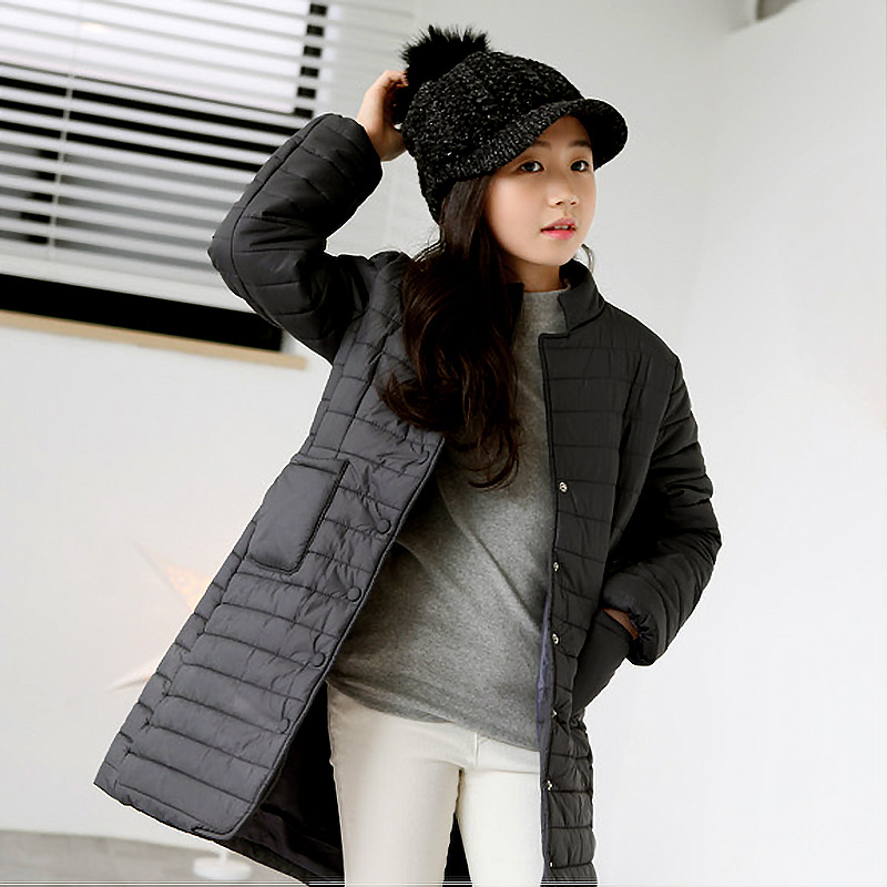 The New Arrival Rushed Casual Polyester Full X-long Turtleneck 2017 Girls In Winter Coat Jacket Korean Children Clip Suit Bread 2017 korean version of the thickening of female workers in the long coat lambskin coat winter coat large size coat