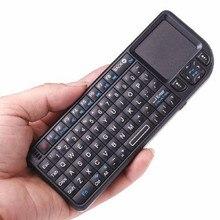 Mini teclado sem fio 2.4g, touchpad, iluminação de fundo para samsung lg panasonic toshiba smart tv pc laptop
