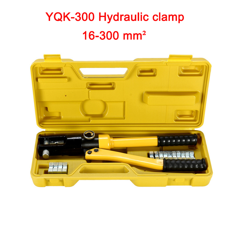 Free shipping by DHL 1pcs 16-300MM crimping range Hydraulic crimping tool 12T pressure YQK-300 free shipping 16 400mm2 baterry hydraulic crimper crimping tool