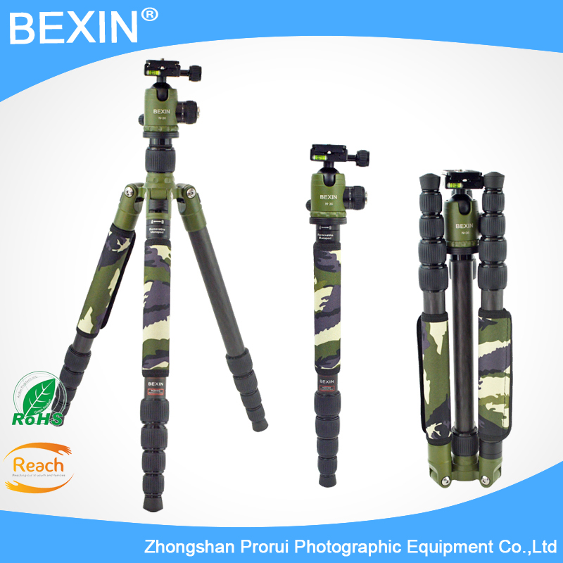 Professional Photography Carbon Fiber camera Tripod monopod with Detachable Ball head Kit For Canon Nikon Sony DSLR Camera stand ashanks carbon fiber camera monopod 705b professional 34 2mm foot tube diameter with monopod head free shipping