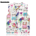 Cartoon Print Girls Vest Winter 2-8Y Children's Vest For Girls Jackets Down Cotton Girls Waistcoat  Baby Kids Clothes SC419