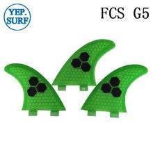 Surfboard Fibreglass Fin FCS G5 Honeycomb Surf Quilhas