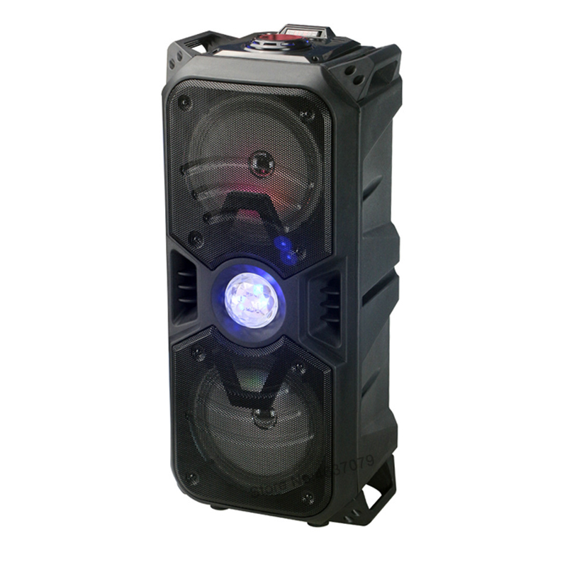 51cm height Bluetooth Speaker Portable Hi-Fi Super Bass with BT/TF/AUX/USB Cool LED Shining Light Party Speakers
