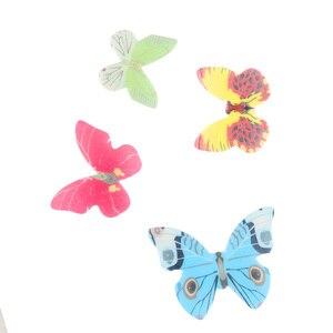 Image 5 - 42個混合カラフルな蝶ケーキデコレーションツールカップケーキトッパーケーキ食用漫画米ウエハ紙カップケーキトッパーbirthda