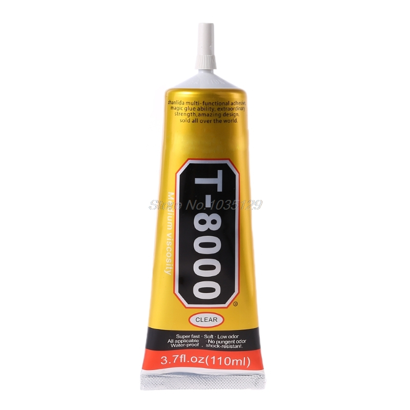 <font><b>110ml</b></font> Super Strong Industrial <font><b>T8000</b></font> Liquid Glue Auto Rubber Leather T-8000 Adhesive Textile Cloth Touch Screen GZZ Dropship image