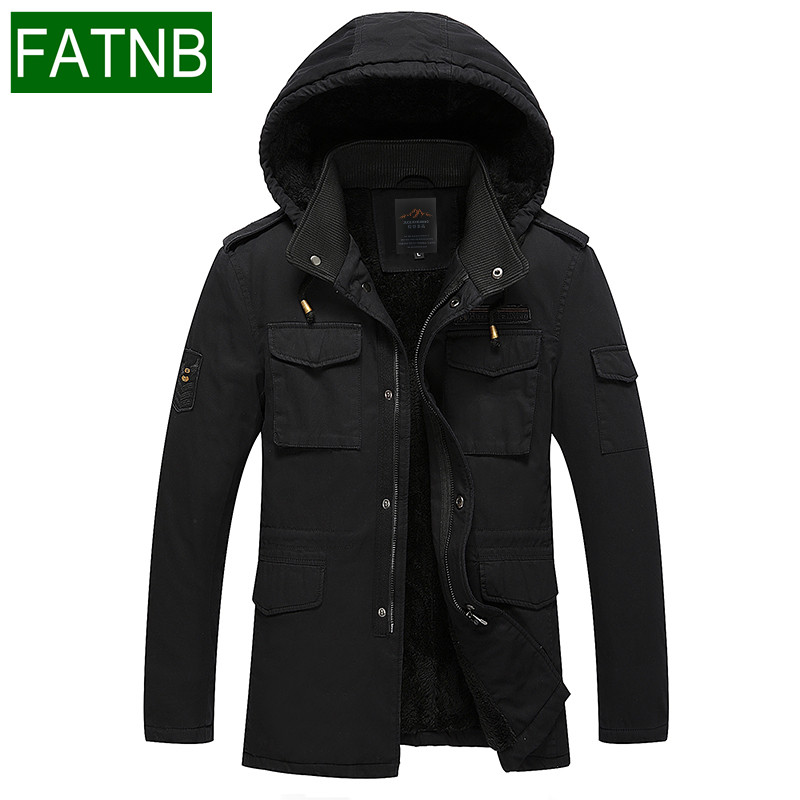 Winter Jacket Men New arrival 2017 Fashion Hot Warm Thick Mens Coats Hooded Cotton-padded jackets Travel Clothes