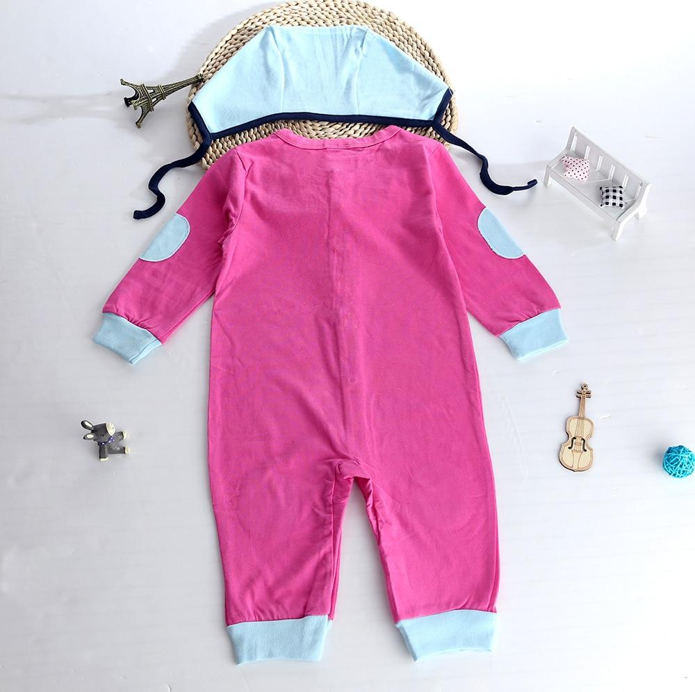 2Pcs Cute Newborn Cotton Colorful Infant Baby Girl Patchwork Romper+Hat Children Clothes Set Long Sleeve Toddler Jumpsuit