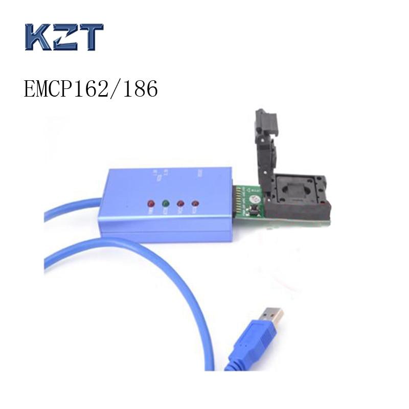 цена на eMCP162eMCP186 test socket for android phone data recovery with USB3.0 wire clamshell programmer socket adapter BGA162 BGA186