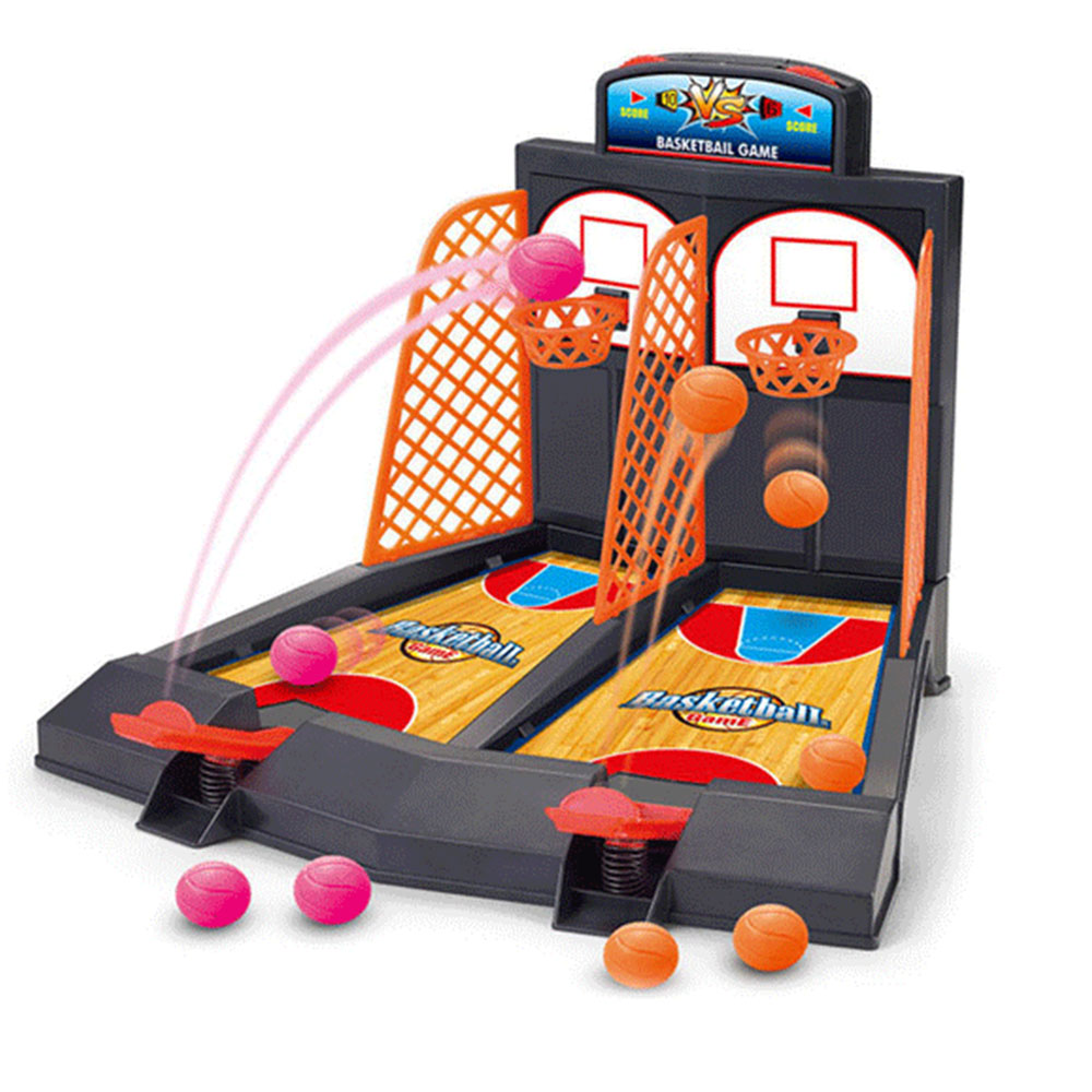 Arcade Ball Mini Shoot & Score Game - - 2 Players TableTop Basketball Game Machine Toys