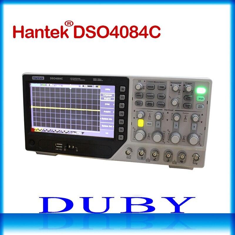 DSO4084C Multímetro Digital Osciloscópio USB Hantek 80 MHz de largura de banda de 4 Canais Osciloscópio Portatil Gerador de forma de Onda
