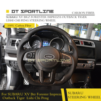 For SUBARU XV BRZ Forester Impreza Outback Tiger Lishi Chi Peng Carbon Fiber Leather Replacement Steering Wheel