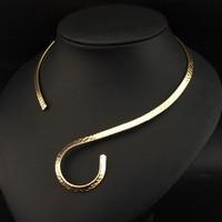 UKMOC Панк Металл крученое ожерелье ожерелья для мужчин для женщин модные украшения средства ухода за кожей Шеи Воротник Заявление ожерелья