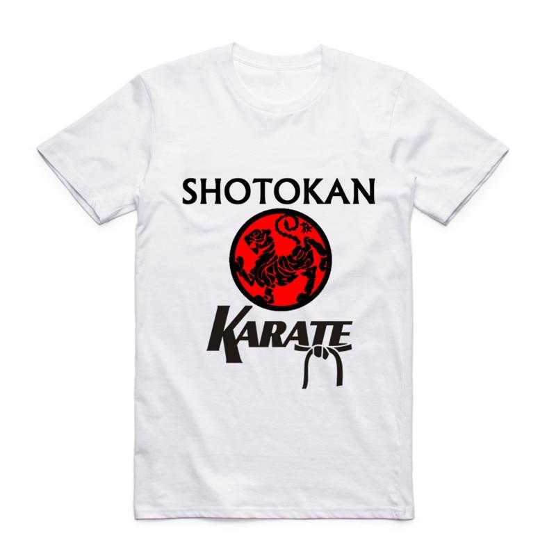 Hombres de la moda de Impresión Japonesa Kanji Shotokan Karate camiseta O-cuello mangas cortas Verano Taijutsu Martial MMA Tops Tees Swag