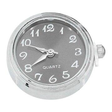 """1 StÜck Uhr Gesicht Snap Klicken Tasten Druckknöpfe Silber Ton 25mm X 21mm (1 """"x7/8"""") Wir Nehmen Kunden Als Unsere GöTter"""