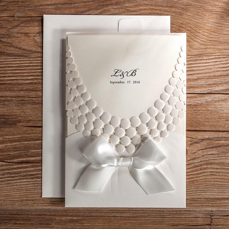nuevo corte lser tarjetas de invitacin de boda elegante del partido del papel tarjeta de