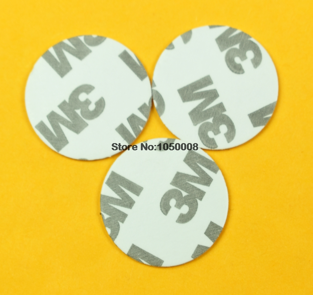 100pcs 125khz RFID  Rewritable EM4305 3M Adhesive Sticker Coin Card Diameter 25mm100pcs 125khz RFID  Rewritable EM4305 3M Adhesive Sticker Coin Card Diameter 25mm