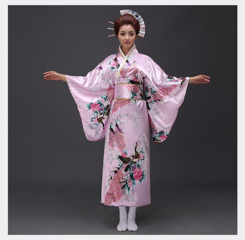 Fashion National Trends Kvinnor Sexy Kimono Yukata Med Obi - Nationella kläder - Foto 3