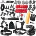 SnowHu Gopro accessories set go pro kit mount SJ4000 hero 5 4 3+ SJCAM M10 SJ5000 EKEN H9R camera case xiaoyi chest tripod GS54