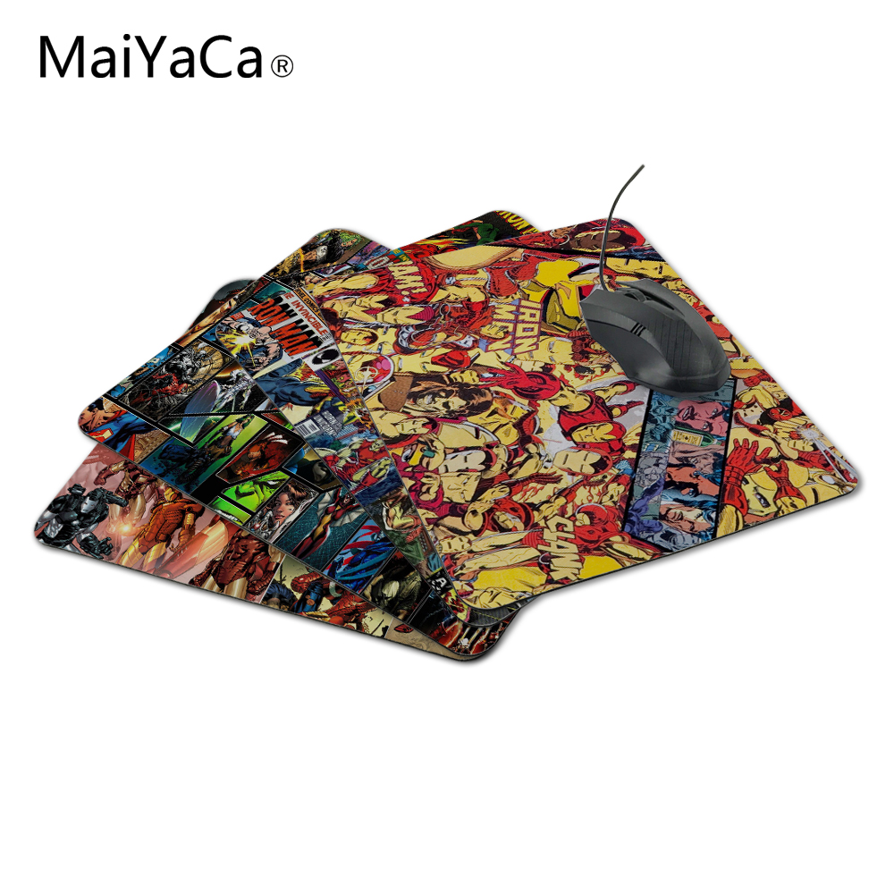 MaiYaCa Comics Homem de Ferro Mouse Pad Best Buy Gaming Mousepad Notbook Computer Mouse Pad Cool to Mouse Gamer Free Shipping