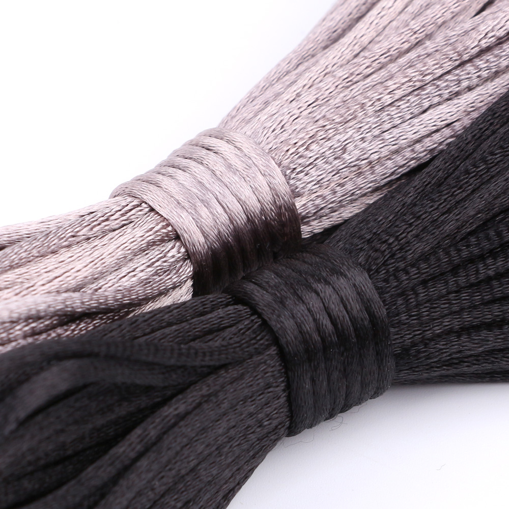 Baby Teether Accessories Satin Silk Rope 10m Nylon Rattail Cord Jewelry Making