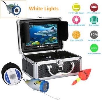 "Free Shipping! 7"" Inch 1000tvl Underwater Fishing Video Camera Kit 12 PCS LED Lights Video Fish Finder Lake Under Water fish cam"