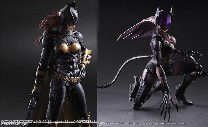 2017 women Batgirl Selina Catwoman Play Arts kai SEXY figma batman superman joker DC Marvel Avengers PVC action figure Model toy neca dc comics batman superman the joker pvc action figure collectible toy 7 18cm