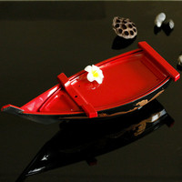 ABS Salmon plate Sashimi plate Japanese cuisine Dragon boat Container Sushi boat Sashimi boat Dry ice cooking boat