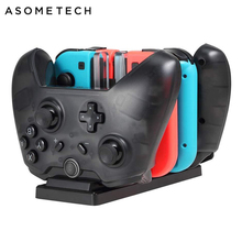 6 in 1 Charging Dock For Nintendo Switch Joy con Pro Controller Stand Charger For N Switch NS Joycon Charger For Nintend Switch