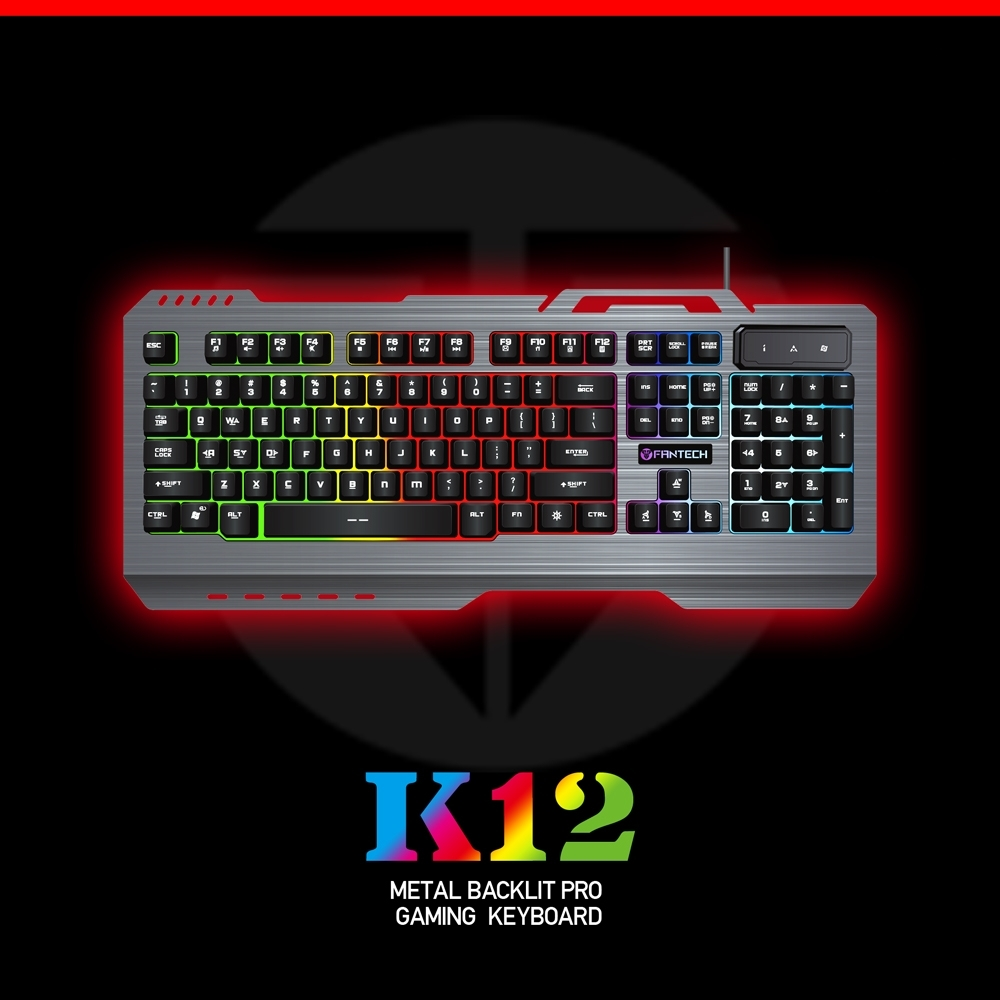 Gaming Keyboard USB LED Wired Keyboard Mechanical feel with USB Powered Full 104 Key Rollover