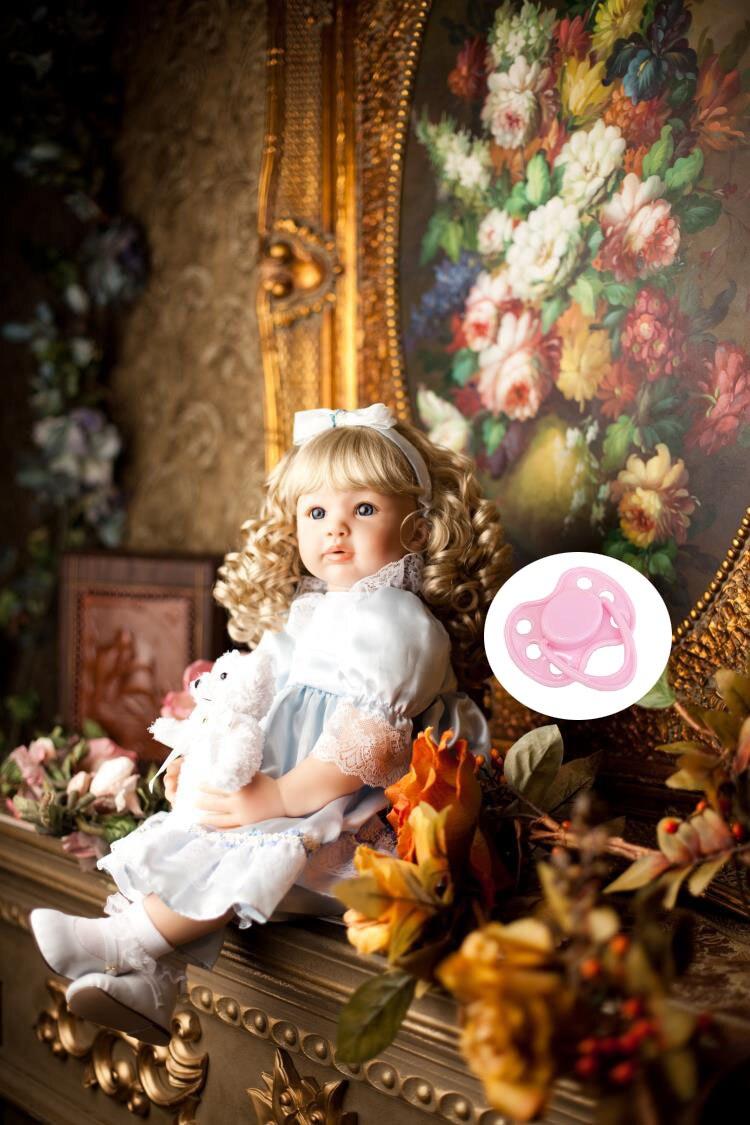 60 sm Silikon Vinil Yenidoğulmuş Körpə Doll Həyatında Yenidoğulmuş Qızlar Körpələr Toddler Dolls Uşaq Uşaqlarına Ad günü hədiyyəsi