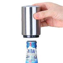 Automatic Beer Bottle Opener With Magnetic Cap Catcher Stainless Steel Opener Home Kitchen Cooking Tools