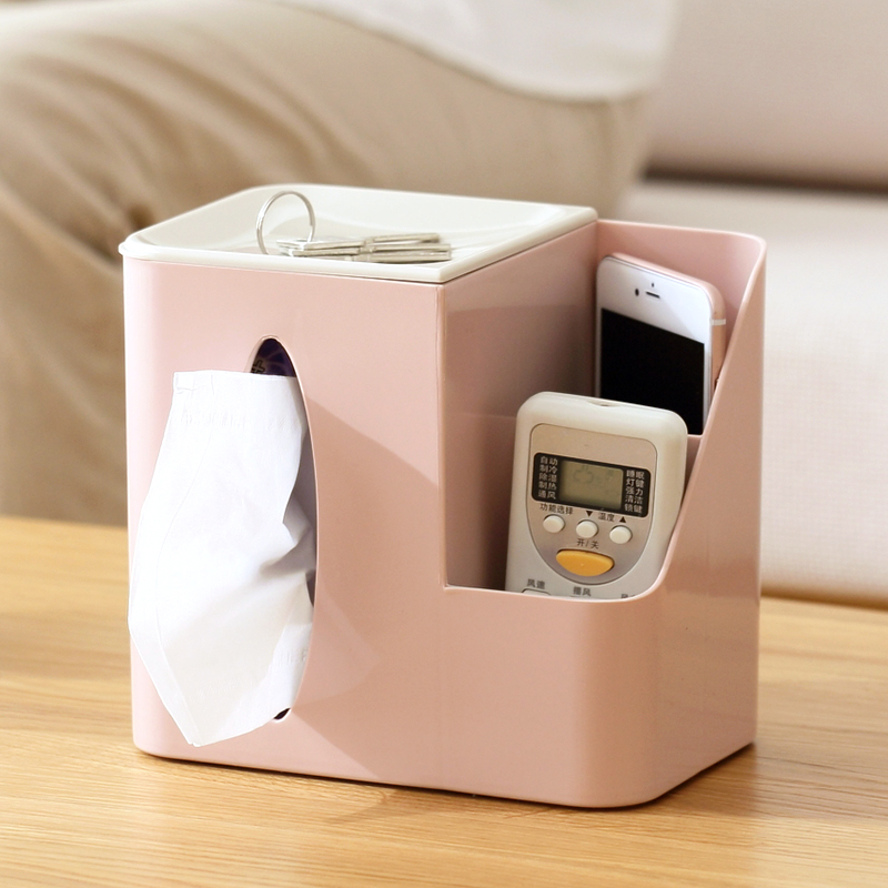 Japanese creative multifunction desktop tissue box sundry storage box office accessories kitchen orgainzer tissue holder
