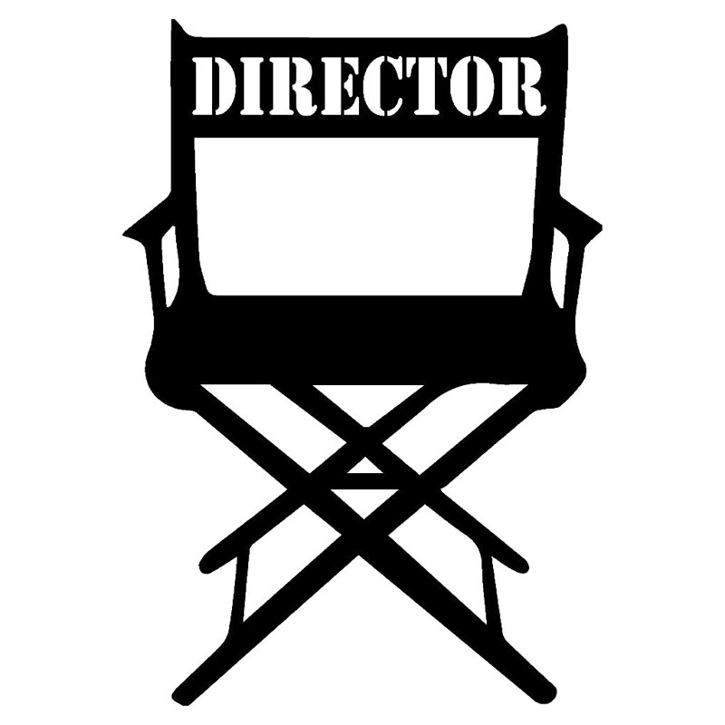 10.7X15.3CM MOVIE DIRECTOR CHAIR Vinyl Decal Black/Silver Car Sticker Personality Car-styling the silver chair