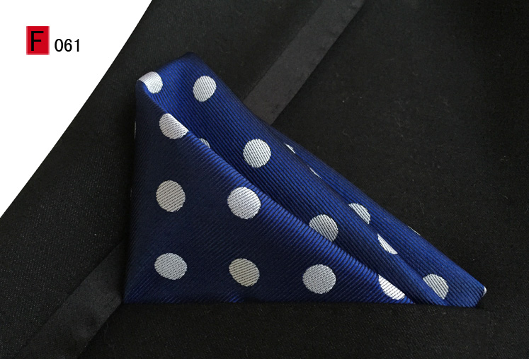 25x25cm Stylish Pocket Square Blue With Big White Dots Handkerchief