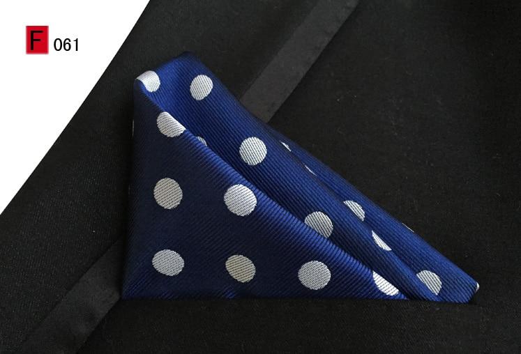 25x25cm Stylish Pocket Square Blue With Big White Dots Handkerchief