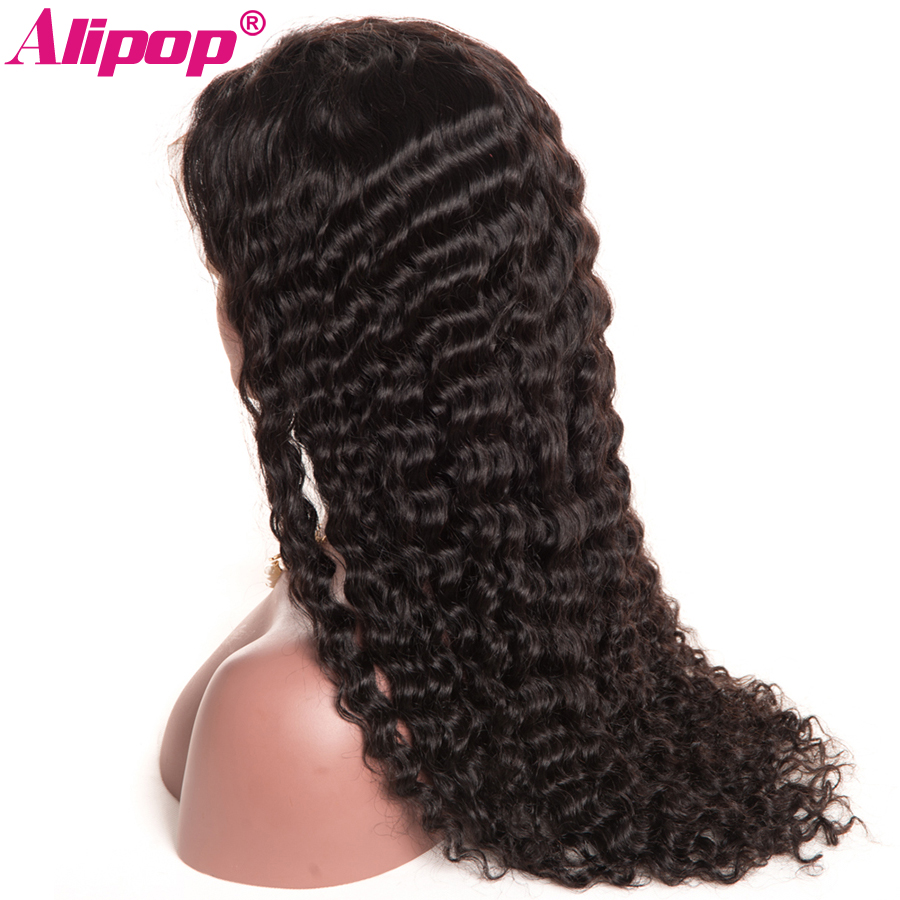 150% Density Full Brazilian Deep Wave Wig Pre Plucked Remy Lace Front Human Hair Wigs ALIPOP Human Hair Wigs With Baby Hair