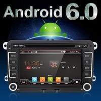 Auto 4 Quad Core Android 6.0 Tela Capacitiva Carro DVD Para VW Golf 5 6 Polo Passat Jetta Tiguan Touran SKODA Octavia ASSENTO Altea
