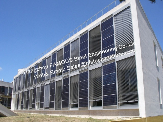 Solar Building Integrated PV Photovoltaic Facades Glass Curtain Wall With Modules Cladding