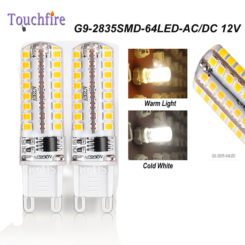 10pcs G9 2835smd 64 LED Bulb Tubes Corn Lamp 3.5w AC 220V White/Warm Light 360 Beam Angle replace Halogen Spotlight Chandelier