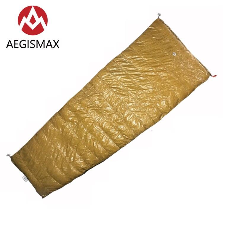 AEGISMAX LIGHT Outdoor Envelope Sleeping Bag 95% White Goose Down 800FP Camping Hiking Equipment Splicing Lazy Sleeping Bag