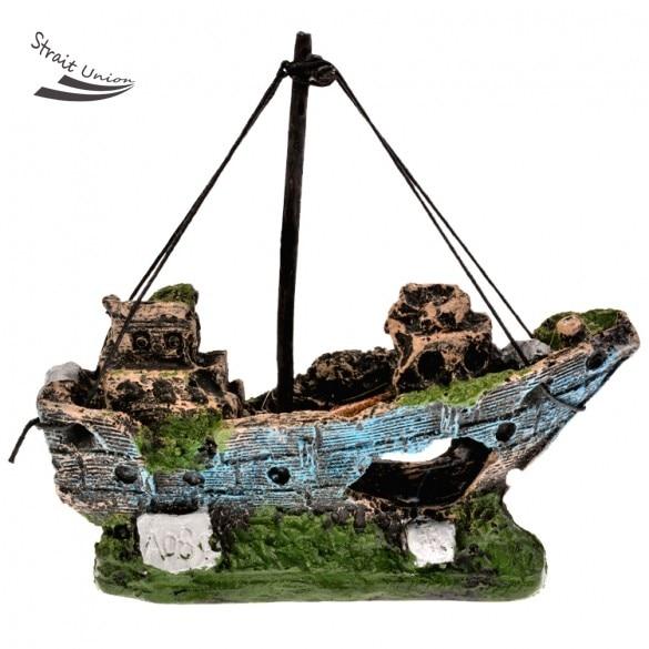 Koop aquarium ornament gezonken wrak schip for Decoratie zeilboot
