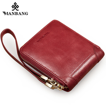 ManBang New wallet women Genuine Leather Cowhide Zipper Restore Ancient Ways Men Wallet Cross Section Portable Function Wallet long section mini wallet men 2017 manbang fashion casual pure cowhide simple zipper clutch wallets black mbq2674ah