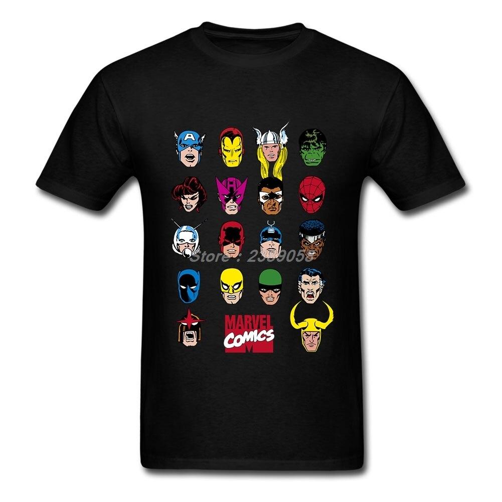Brand   T     SHIRT   Mens Short Sleeve Marvel Comics   t  -  shirt   Cheap Character Adult   Shirt   Camisetas