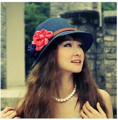 Hot New Fashion Summer Casual Women Ladies Wide Brim Beach Sun Hat Elegant Straw Floppy Bohemia Cap For Women Dating