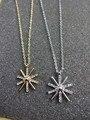 Nuevo 2016 de Corea Del diseño Christams nieve oro plata collar de la flor de Sun descendientes de la joyería para las mujeres regalo